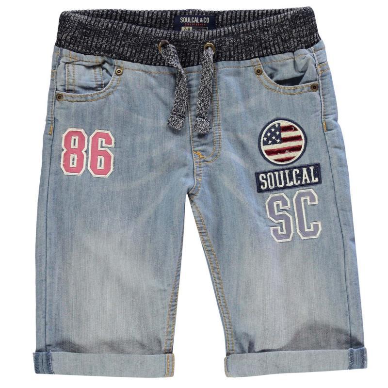 Kraťasy SoulCal Badge Shorts Junior Boys Light Wash