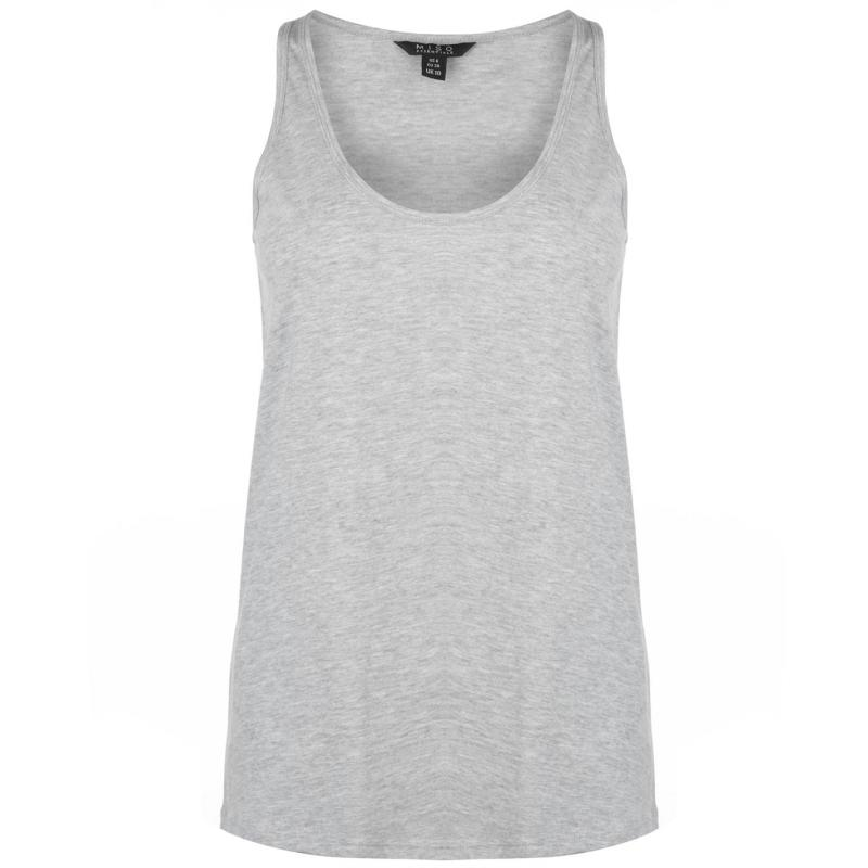 Miso Loose Tank Top Ladies Grey Marl