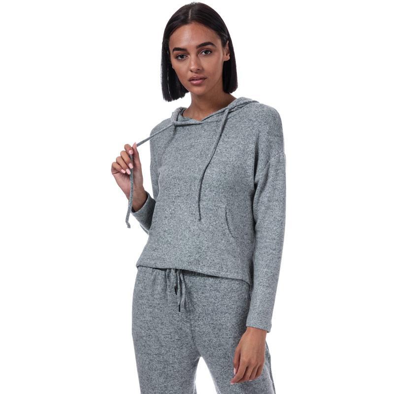 Mikina s kapucí Brave Soul Womens Brushed Lounge Hoody Grey Marl