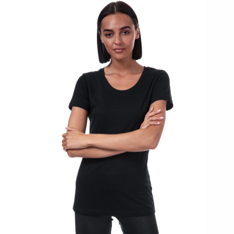 Reebok Womens Crew Neck T-Shirt Black