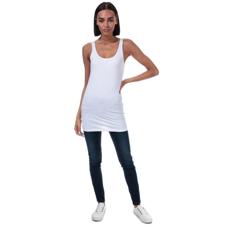 Vero Moda Womens Maxi Long Tank Top White