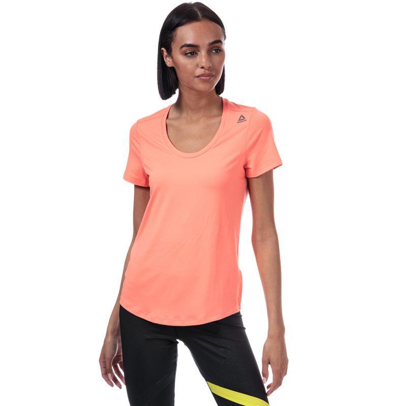 Reebok Womens Workout Ready Speedwick T-Shirt Pink