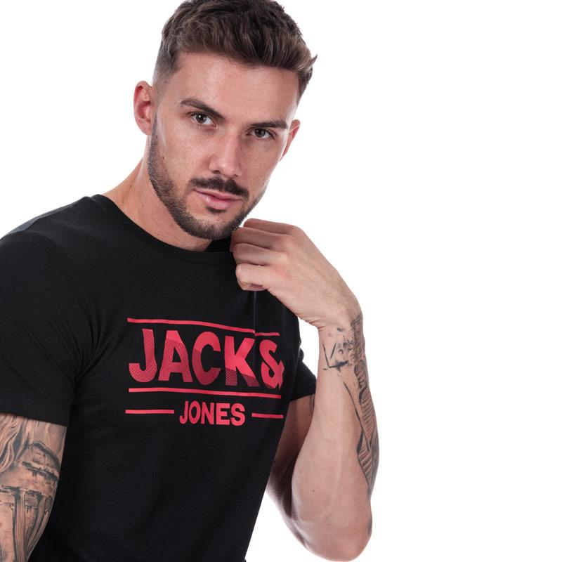 Tričko Jack Jones Mens Tony T-Shirt Black