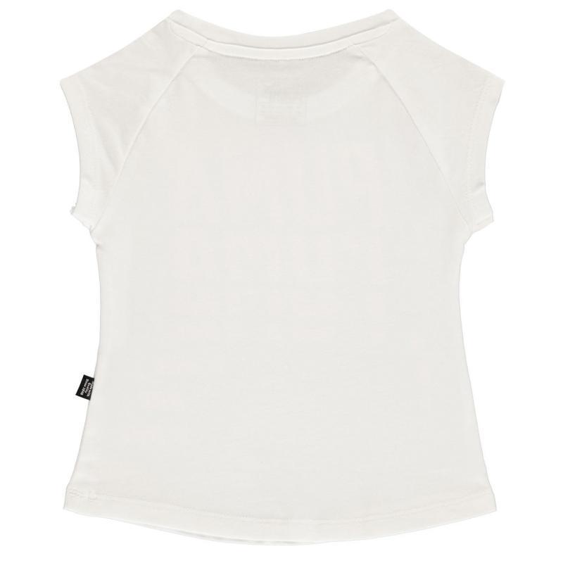 Puma Word T Shirt Infant Girls White/Pink