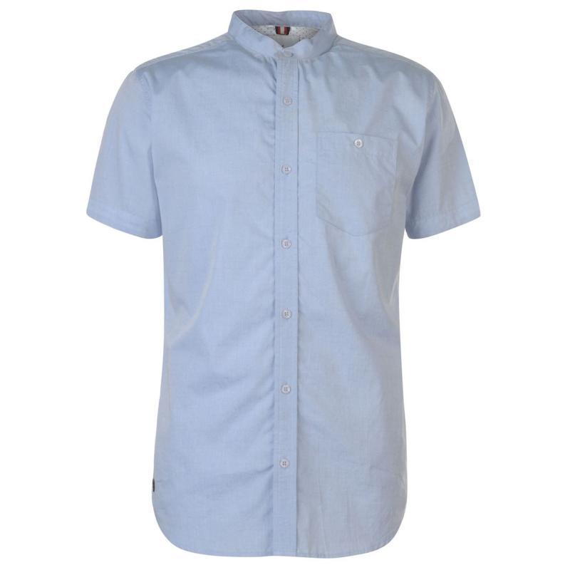 Soviet Short Sleeve Grandad Shirt Blue