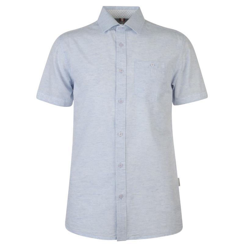 Soviet Short Sleeve Slub Shirt Blue