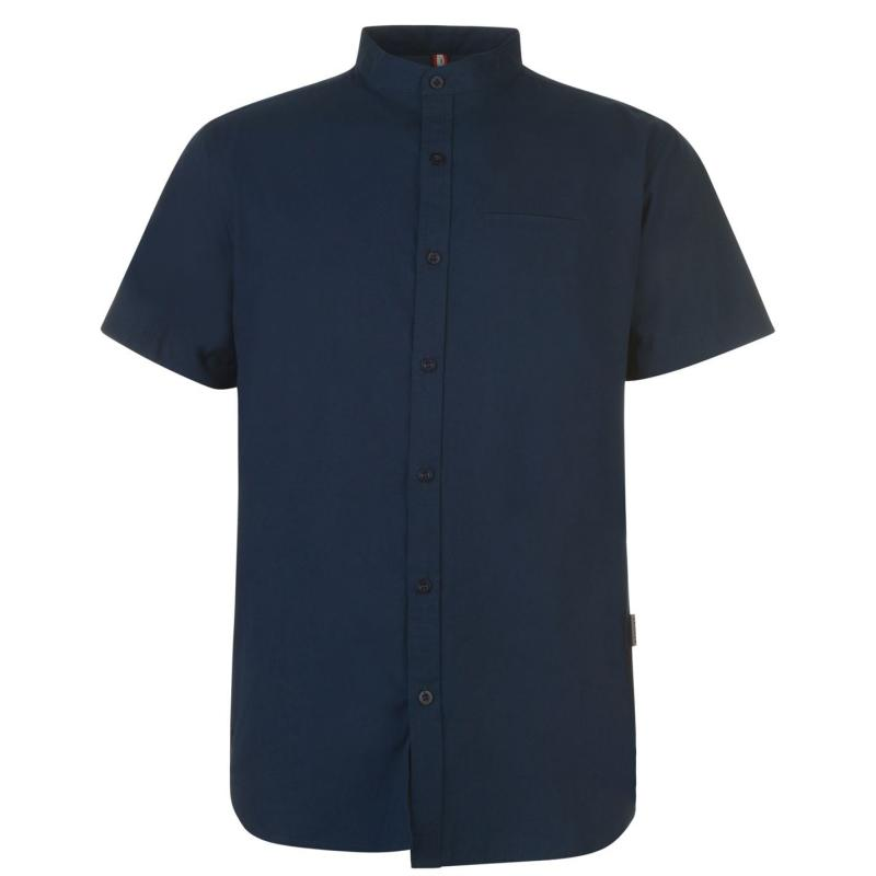 Soviet Short Sleeve Tape Shirt Navy