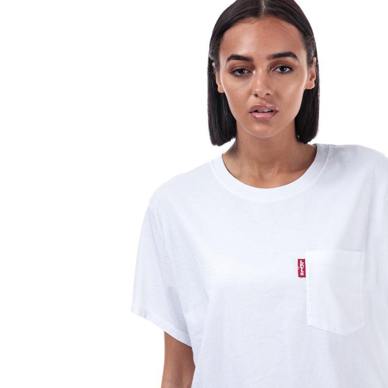 Levis Womens J.V. T-Shirt White