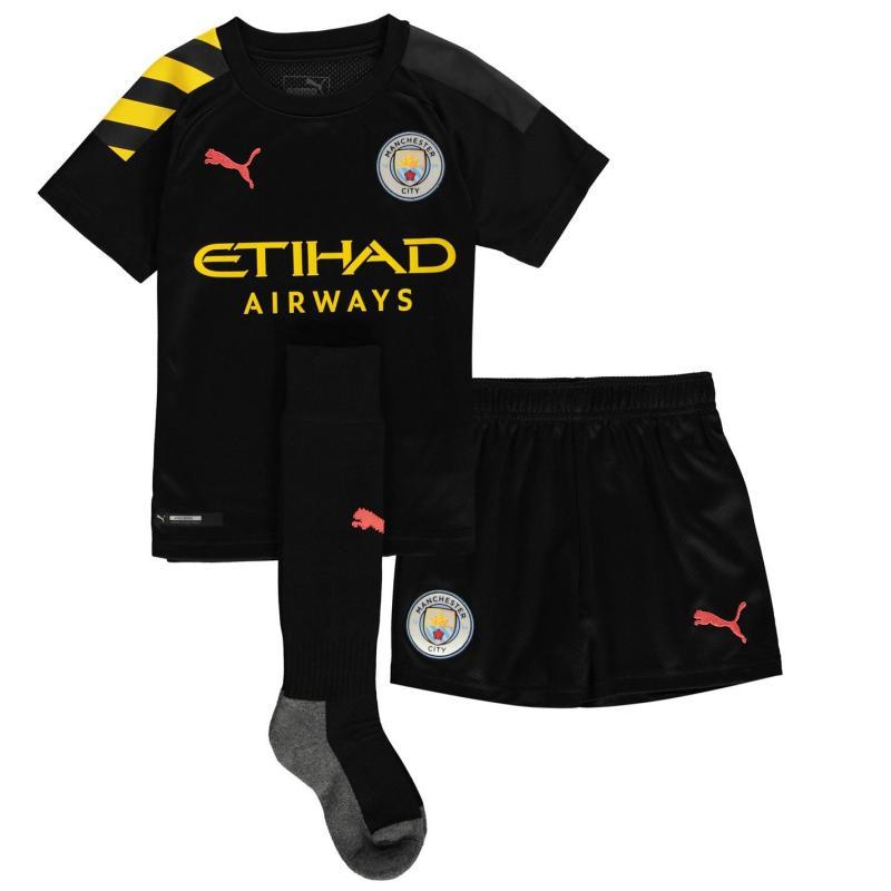 Puma Manchester City Away Mini Kit 2019 2020 Black/Peach