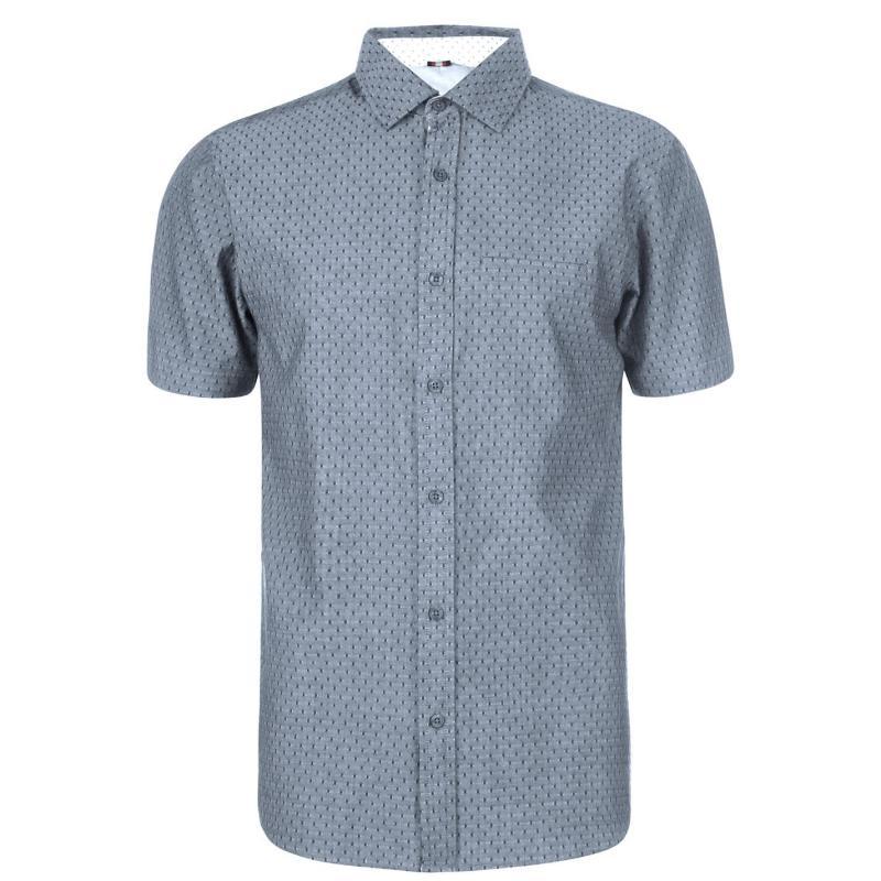 Soviet Short Sleeve Dobby Shirt Navy