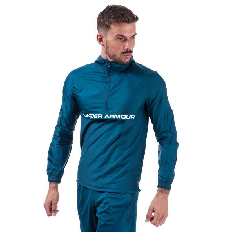 Under Armour Mens Sportstyle Woven Half Zip Jacket Blue