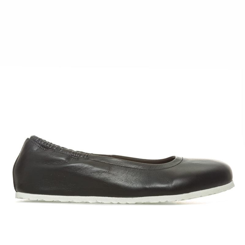 Birkenstock Womens Celina Leather Ballerina Shoes Regular Black