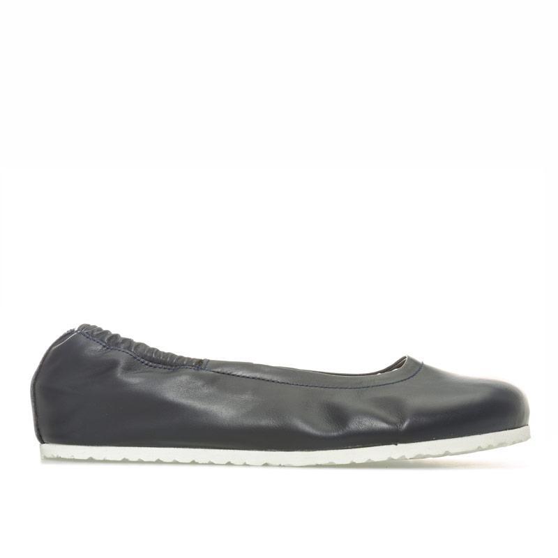 Birkenstock Womens Celina Leather Ballerina Shoes Regular Navy