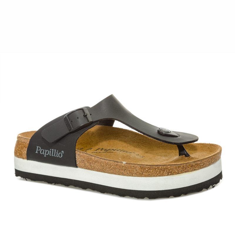 Boty Papillio Womens Gizeh Plateau Sandals Regular Width Black