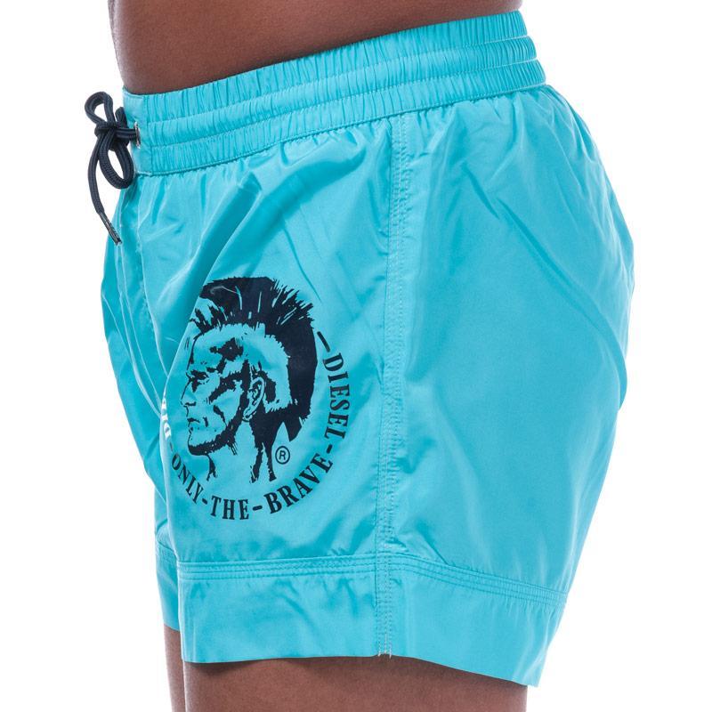 Diesel Mens BMBX 2.017 Swim Shorts Blue Velikost - XL