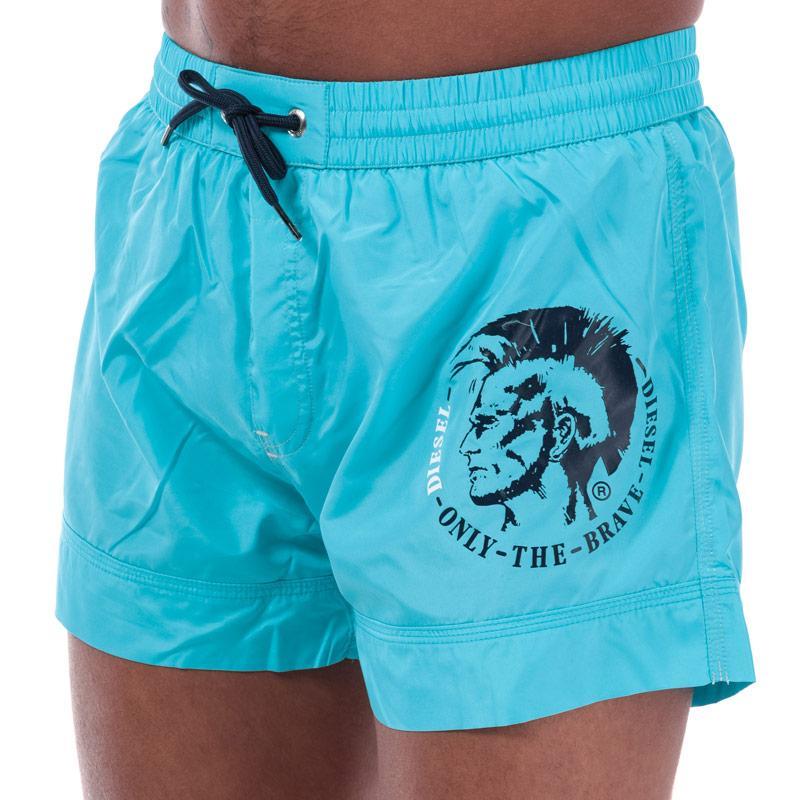 Diesel Mens BMBX 2.017 Swim Shorts Blue