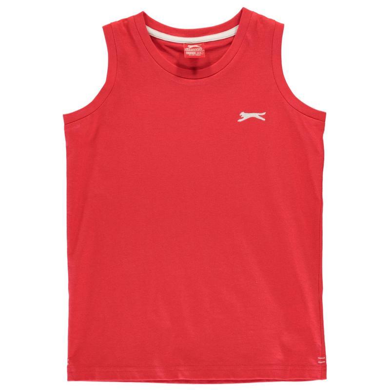 Tílko Slazenger Sleeveless T Shirt Junior Boys Red