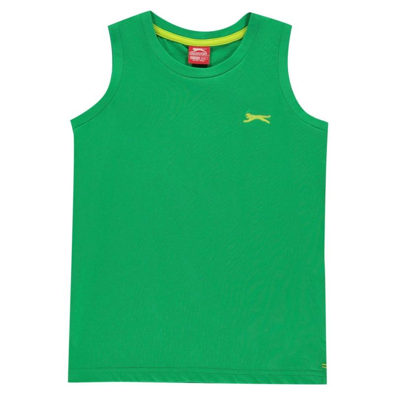 Tílko Slazenger Sleeveless T Shirt Junior Boys Red
