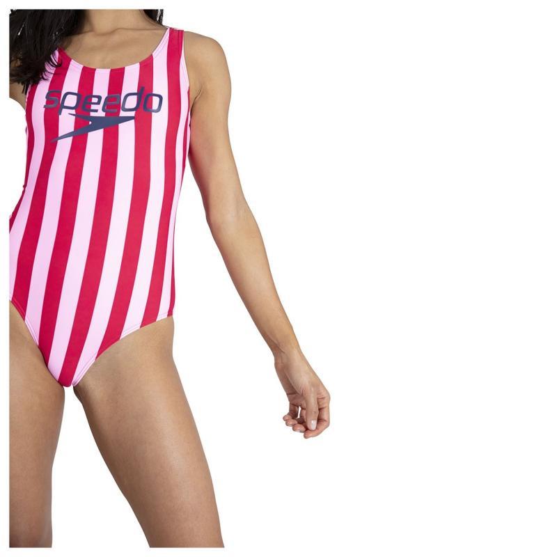 Plavky Speedo Heritage Ice Cream U Back Swimsuit Ladies Pink/Pale Pink