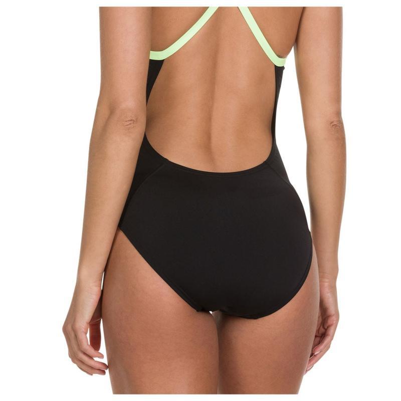 Plavky Speedo Mirror Racer Back Swimsuit Ladies Black/Blue