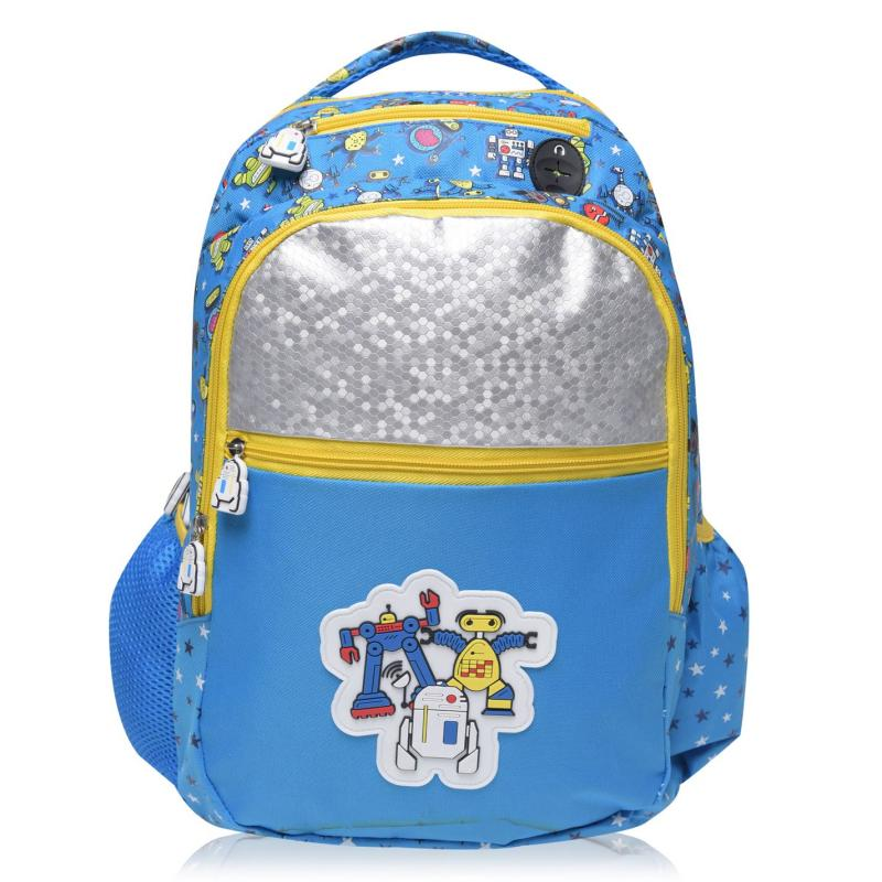 Star Graphic Backpack with Pencil Case Robot Funk