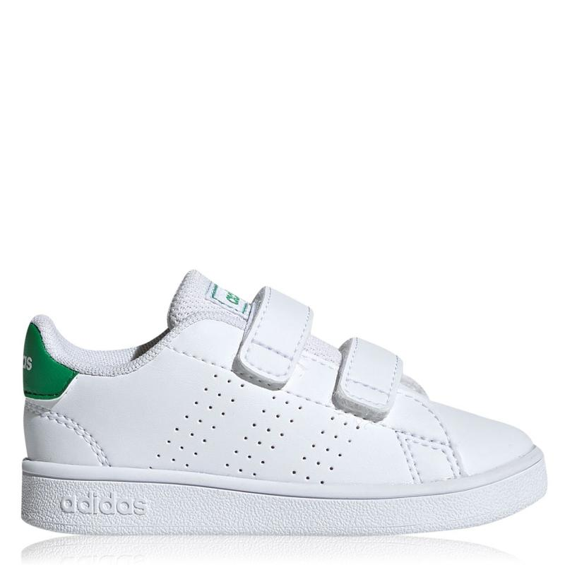 Boty adidas Advantage I Infant Trainers Cloud White / Green / Grey Two