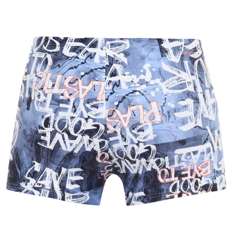 Adidas Fit Box Parley Trunks Mens Blue/Coral