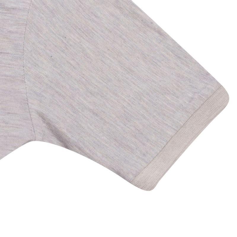 Lee Cooper Polo Shirt Mens Tan Grey