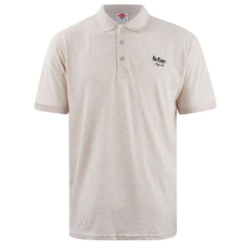 Lee Cooper Polo Shirt Mens Navish Grey
