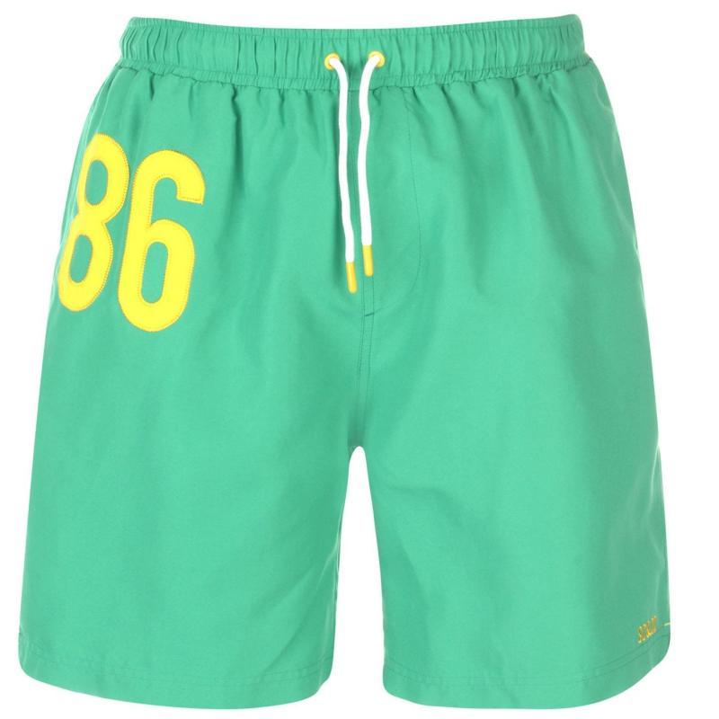 Plavky SoulCal Mens Large Logo Swim Shorts Green