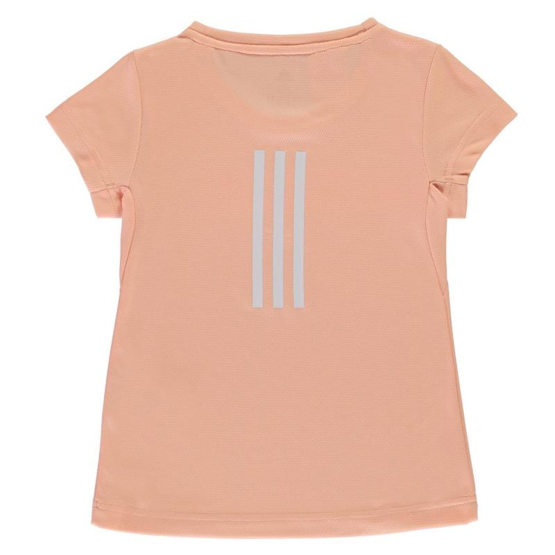 Adidas Train Cool T Shirt Girls Glow Pink/White