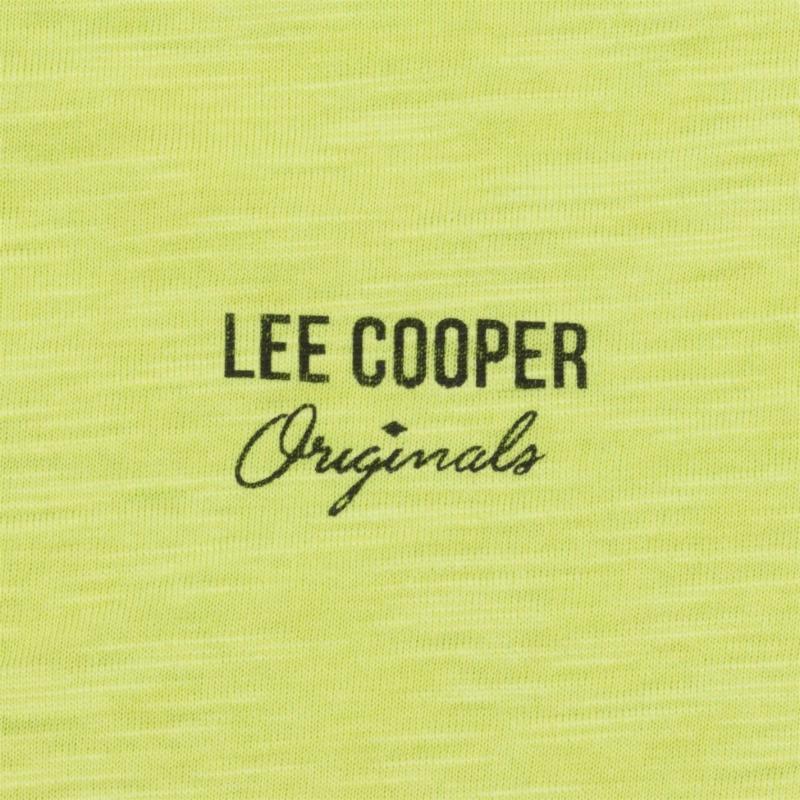 Tričko Lee Cooper Slub T Shirt Junior Lime