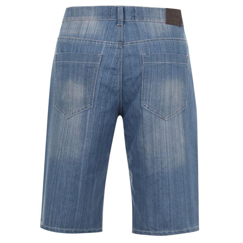 Lee Cooper Washed Denim Shorts Mens Mid Wash