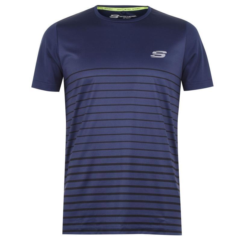 Skechers Stripe T Shirt Navy