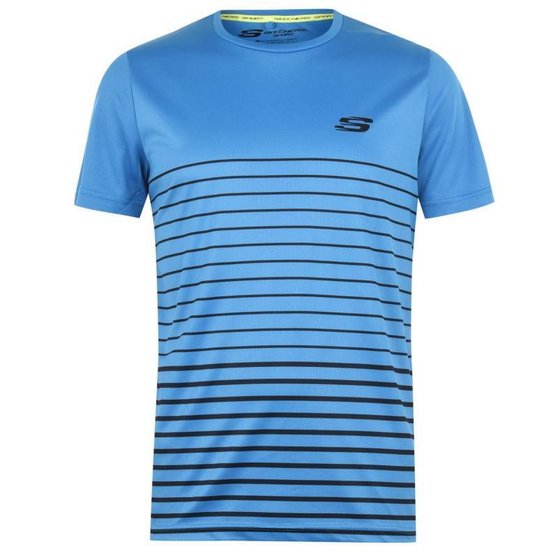 Skechers Stripe T Shirt Blue