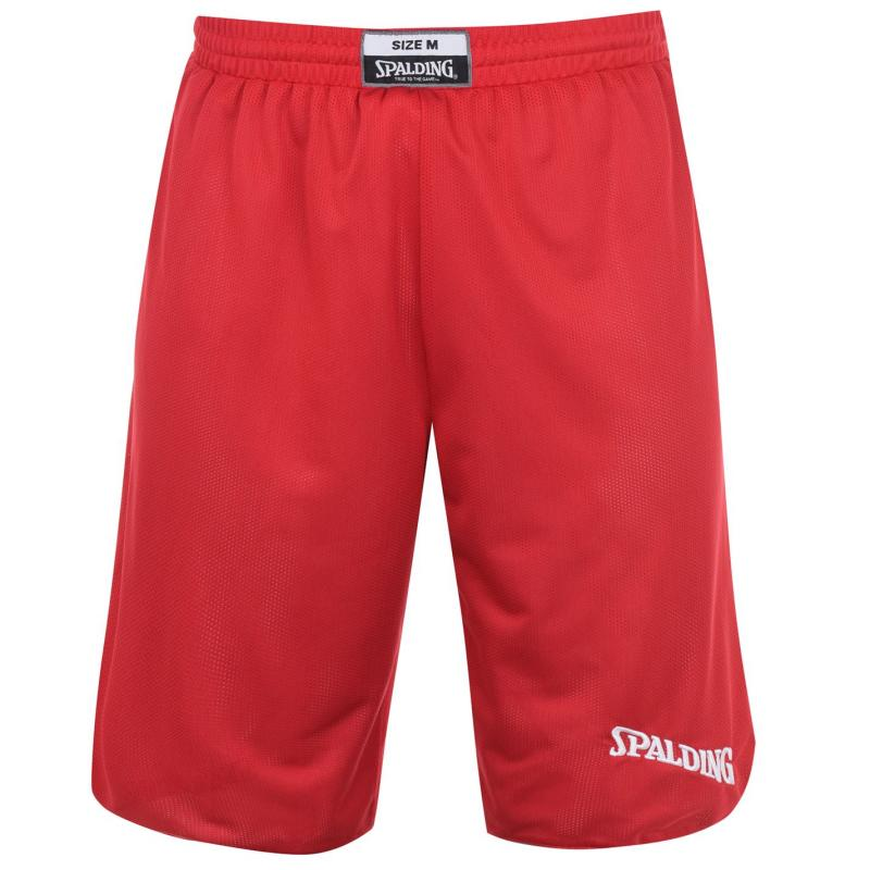 Spalding Reversible Basketball Shorts Mens Red/White