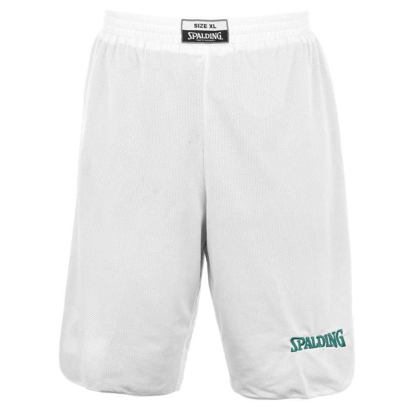 Spalding Reversible Basketball Shorts Mens White/Green