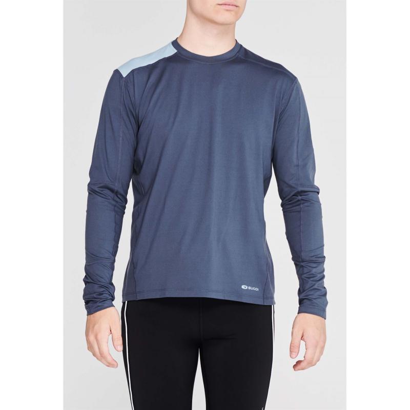 Sugoi Titan Core Long Sleeve T Shirt Mens Coal Blue