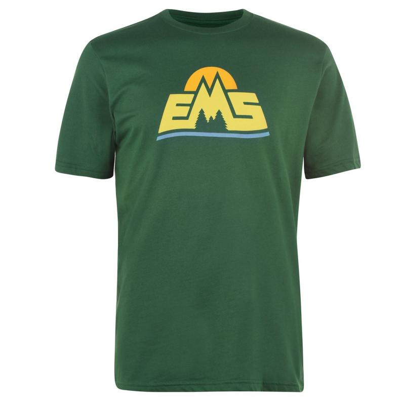 Tričko Eastern Mountain Sports Logo T Shirt Green