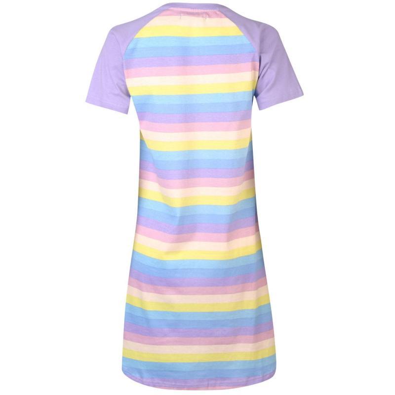 Pyžama Golddigga Fun Nightdress Ladies Multi Stripe
