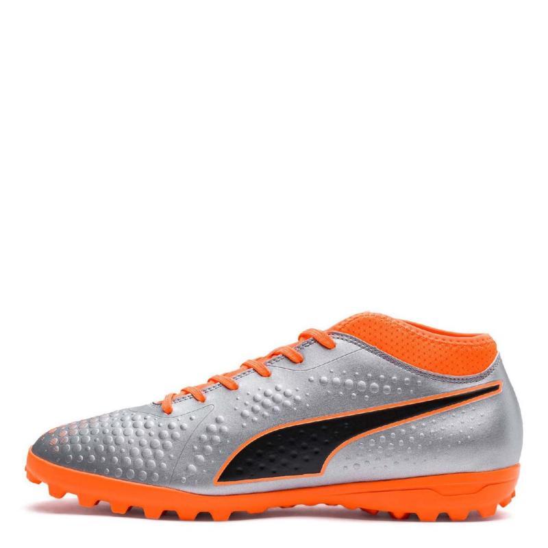 Puma One 4 Mens Astro Turf Trainers Orange/Black