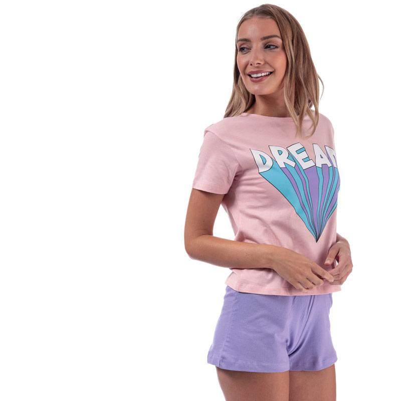Pyžama Brave Soul Womens Dream Short Pyjama Set Violet