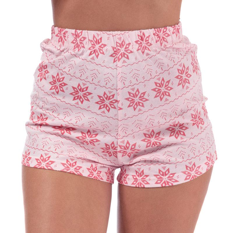 Pyžama Brave Soul Womens Fairisle Short Pyjama Set Pink