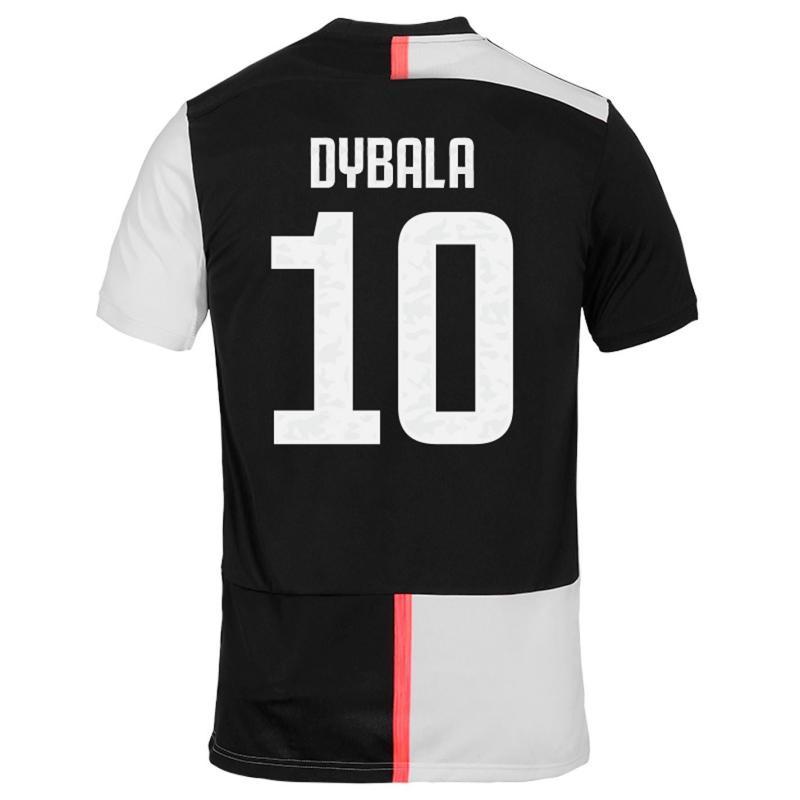 Adidas Juventus Paulo Dybala Home Shirt 2019 2020 Black/White