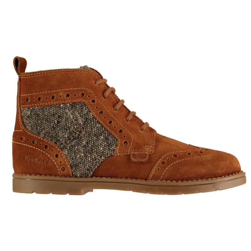 Kickers Orin Boots Junior Boys Rich Tan