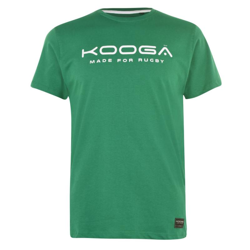 Tričko KooGa Cotton Logo T Shirt Senior GREEN/WHITE