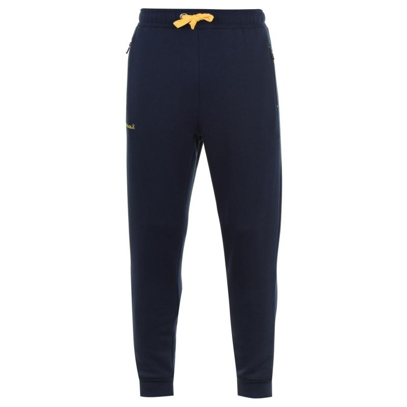 Tepláky KooGa Cuffed Jogging Bottoms Senior NAVY/YELLOW