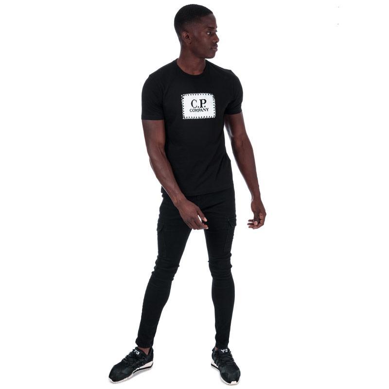 Tričko C.P. Company Mens S/S Box Logo T-Shirt Black Velikost - XL