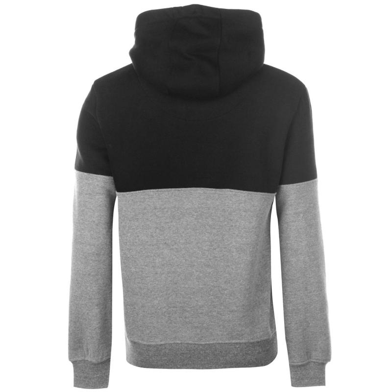 Mikina SoulCal Colour Block OTH Hoodie Mens Black/Charcoal