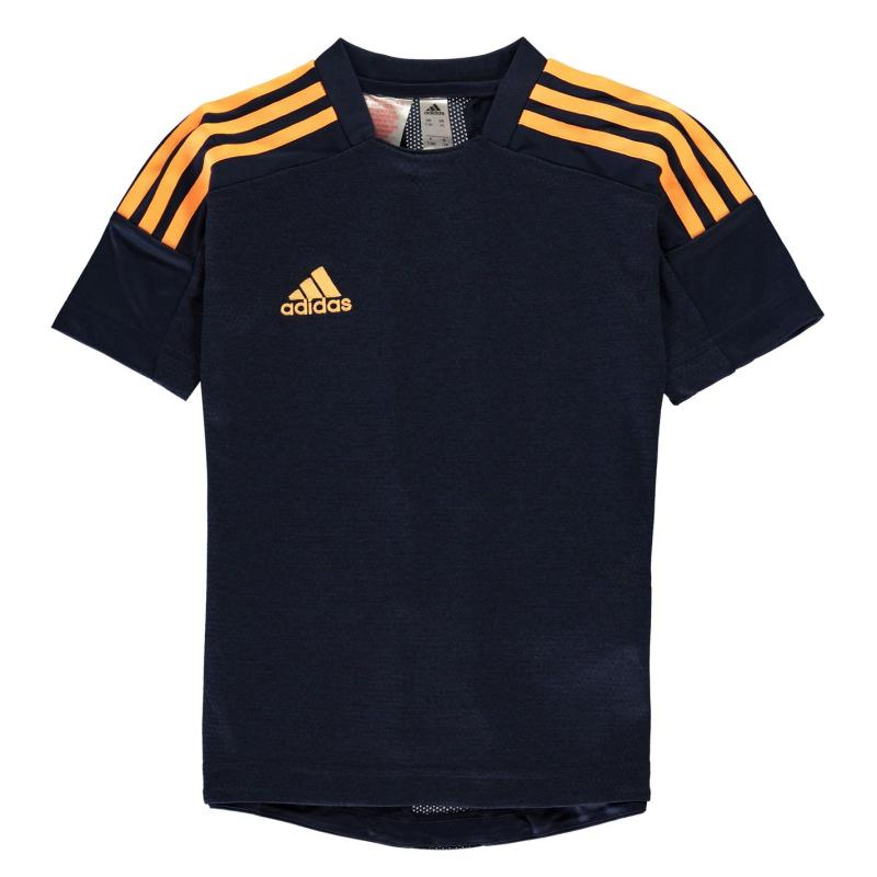 Tričko adidas Sereno Pro T Shirt Junior Boys Navy/Orange